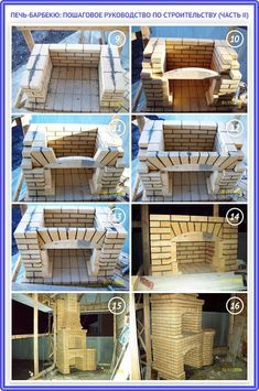 Барбекю из кирпича своими руками: чертежи, ф. Outdoor Bbq Kitchen, Outdoor Barbeque, Pizza Oven Outdoor, Outdoor Kitchen Design, Outdoor Fireplace Designs, Backyard Fireplace, Brick Grill, Stone Bbq, Barbecue Design