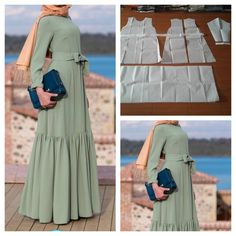 Bow dress with low flare Order by line