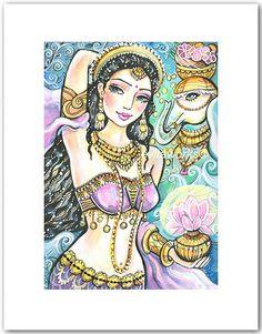 Goddess Lakshmi Indian Art Hindu Goddess Indian by evitaworks, $10.00