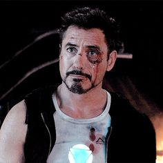 Tony Stark - Iron Man 3.  (That precious battered face...)
