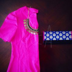 Aalia + Zeenat w/ a pop of color! | annieandamrita.com #annieandamrita #hotpink #fashion