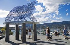 """Kelowna's new public art piece """"The Bear"""" at Stuart Park is shown in a handout photo. Broadway, a street in Orangeville, Ont., has officially become a great place in Canada.Vancouver's West End and Stuart Park in Kelowna have received the same accolade. Great Places, Places To Go, Canadian Contests, Sense Of Place, West End, Public Art, British Columbia, Vancouver, The Neighbourhood"""