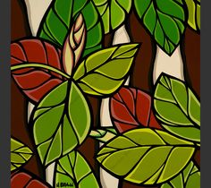 """Part one of """"Hawaiian Botanicals"""", the second series by North Shore Oahu surf artist Heather Brown. This is an Open Editon print that can be bought individually or as a set of 4. See """"Hawaiian Botanic"""