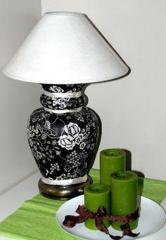Mod Podge fabric lamp revamp. | Mod Podge Rocks