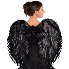 Deluxe Feather Dark Angel Wings