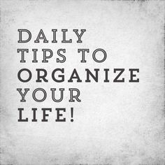 Instagram account with daily tips to get organized!  #NewYear #Resolution #GetOrganied #OrganizeDaily