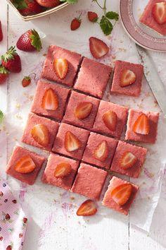Strawberry Rhubarb Shortbread Barscountryliving