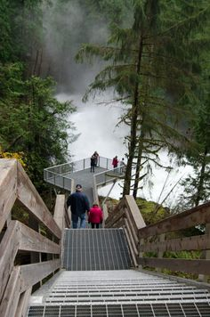 7 Places to Chase Waterfalls on Vancouver Island - Elk Falls, Vancouver Island has an incredible suspension bridge and viewing platform Vancouver Island, Vancouver Travel, North Vancouver, The Places Youll Go, Places To See, Ottawa, Canadian Travel, Canadian Rockies, Trip Planner