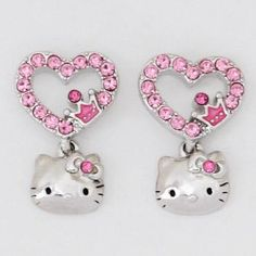 I found 'Hello Kitty Stud Earrings: Hearts/Pink Crystal:Dream Kitty' on Wish, check it out! Heart Earrings, Stud Earrings, Hello Kitty Crafts, Pretty Cats, Pretty Kitty, Hello Kitty Jewelry, Craft Accessories, Cat Jewelry, My Precious