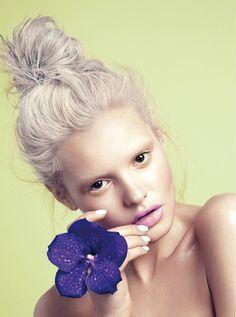 Floral Essence | Elle Vietnam April 2014 | Paige Reifler by Stockton Johnson (beauty editorial)