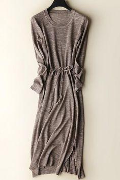 Minimally Chic Natural Sweater Dress
