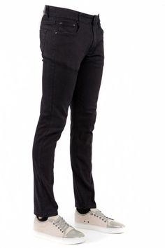 Men's Black Skinny-Fit Cotton Stretch Jeans