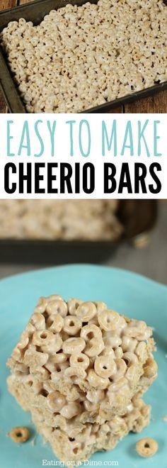 Try using cheerio cereal to make these yummy No Bake Cheerio Bars Recipe. Cheerio Treats are so simple. Cheerio Cereal Bar Recipe is the best!