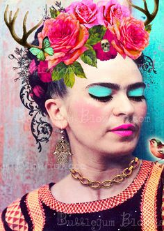 Frida Kahlo Digital art Download by BubblegumBlowfish on Etsy, $15.00