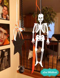 A hanging skeleton by Lori Whitlock-2013 Halloween Blog Hop
