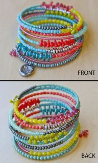 'stacking bracelets' - memory wire DIY