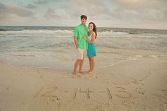 Beach Save the Date Idea: Write your wedding date in the sand.