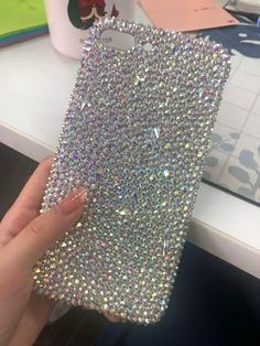 Glitter Cell Phone Cases AB Swarovski Crystal Phone Cases compatible iPhone/Samsung Custom Handmade - Phone case for girls Bling Phone Cases, Girl Phone Cases, Glitter Phone Cases, Cell Phone Covers, Diy Phone Case, Cute Phone Cases, Iphone Cases, Swarovski, Samsung