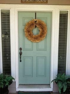 the 7 most welcoming colors for your front door | tan house, front