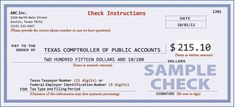 Proper check writing procedures for tax payments Texas Comptroller - Texas. Payroll Checks, Payroll Template, Tax Payment, Attract Money, Free Resume, Sample Resume, Cheque, Writing