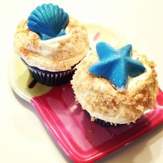 Ocean theme cupcakes! Did them for a boy baby shower