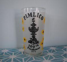 Pimlico 100th Preakness Libbey Glass