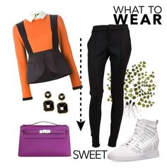 Untitled #174 by nawalsaad on Polyvore featuring Giulietta, Gucci, NIKE, Hermès and Maria Canale