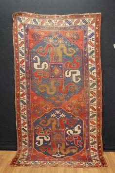 Ancien tapis Kasak Kazak CA: 240x130cm antique rug tappeto antico tapis