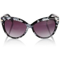 Lipsy Marble Print Cateye Sunglasses