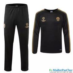 Nouveau Champions league Survetement Juventus Noir 15 2016 2017 Prix Pas Cher