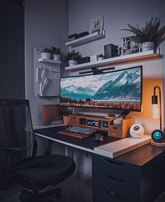 Gaming Room Setup, Desk Setup, Home Office Setup, Home Office Design, Bedroom Setup, Moise, Game Room Design, Workspace Inspiration, Workspace Design