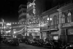Anuncio del estreno mundial de la película Los tres caballeros  en el cine Alameda, Avenida Juárez,   Ciudad de México,   1944