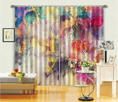 3D Hazy Sunflower 38 Curtains Drapes | AJ Wallpaper 3d Curtains, Europe Photos, Wallpaper, Prints, Decor Ideas, Homes, Decorating, Boho, Home Decor