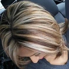 Blonde lowlights for Platinum blondes like me--love this shade. Description from…