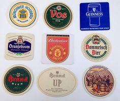 Vintage European Beer Coasters by NightTrainExpress on Etsy