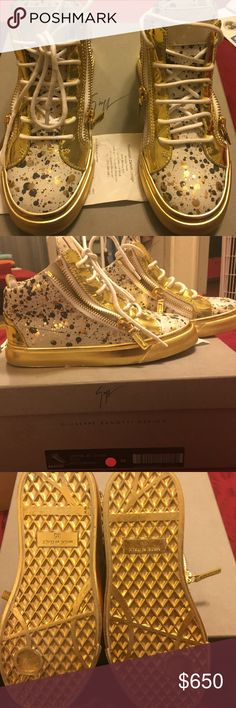 Brand New Giuseppe Zanotti / DustBag & Box Brand New purchased from Giuseppe Zanotti Beverly Center . Size 35 DustBag and shoebox included . Open to emailing extra pictures . If in the Los Angeles area willing to meet at a public place Giuseppe Zanotti Shoes Sneakers