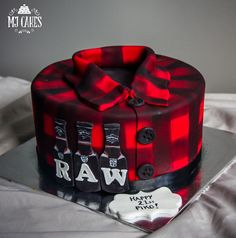 Plaid Shirt Cake on Cake Central