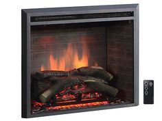 Fireplaces 175756: Puraflame 33 Black 750 1500W Western Wall Mount Electric Fireplace Insert -> BUY IT NOW ONLY: $281.82 on eBay!