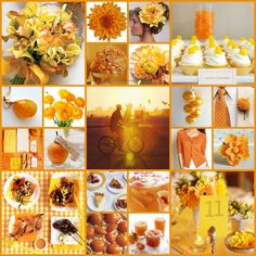 yellow and orange wedding | The finale, a bright yellow and orange sunshine inspired wedding board ...