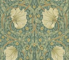 At Fashion Wallpaper, we carry the Morris & Co. collection of classically elegant designs from poet and designer William Morris. Browse our range today. Flores Wallpaper, Green Wallpaper, Arts And Crafts Movement, Craftsman Wallpaper, Decoration, Art Decor, Art Nouveau, Motifs Textiles, William Morris Art