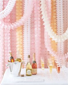 champagne and streamers