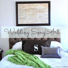 How to make your Wedding Song into a piece of art... beautiful @Cleverlyinspired
