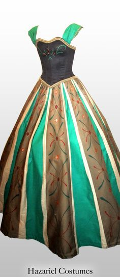 Anna's dress from Disney's Frozen, costume or cosplay.