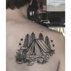 http://tattoomagz.com/tattoos-by-charley-gerardin/tent-and-campfire-tattoo-by-charley-gerardin/