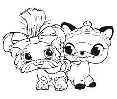 Dibujos para Colorear. Dibujos para Pintar. Dibujos para imprimir y colorear online. Littlest pet shop 7