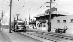 In this photo taken in April 1941, car no. 5010 (Craig Rasmussen collection) is stopped at Culver City Station to entrain a lone passenger f...