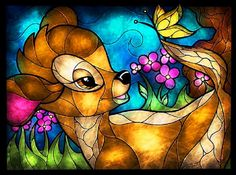 BUY 2, GET 1 FREE! Bambi Stained Glass Disney 135 Cross Stitch Pattern Counted Cross Stitch Chart, Pdf Format, Instant Download /181242 by icrossstitchpattern on Etsy