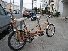 68 MINI TWINN Sting-Ray project started adding lights and that cool vintage bat holder next item will be a rack thanks again R for helping get this beast out of the garage. Cool Bicycles, Cool Bikes, Tandem, Bmx, Retro, Mini, Bike Stuff, Transportation, Vintage