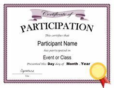 Certificate template for kids free printable certificate templates certificate of participation template in pdf and doc formats free downloads at http yadclub Gallery