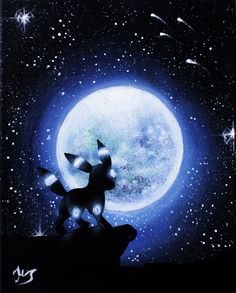 Shiny Umbreon under the moon painting cm Canvas Pokemon Umbreon, Umbreon And Espeon, Eevee Evolutions, Bulbasaur, Cool Pokemon Wallpapers, Cute Pokemon Wallpaper, Animes Wallpapers, Cute Wallpapers, Pokemon Fan Art